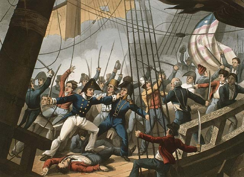 what forces led americans to declare war on britain in 1812 The united states declared war on great britain during its war with france on june 18, 1812 in 1794 the united states constitution provided for the introduction of a navy congress passed a bill giving permission to build six navy ships.