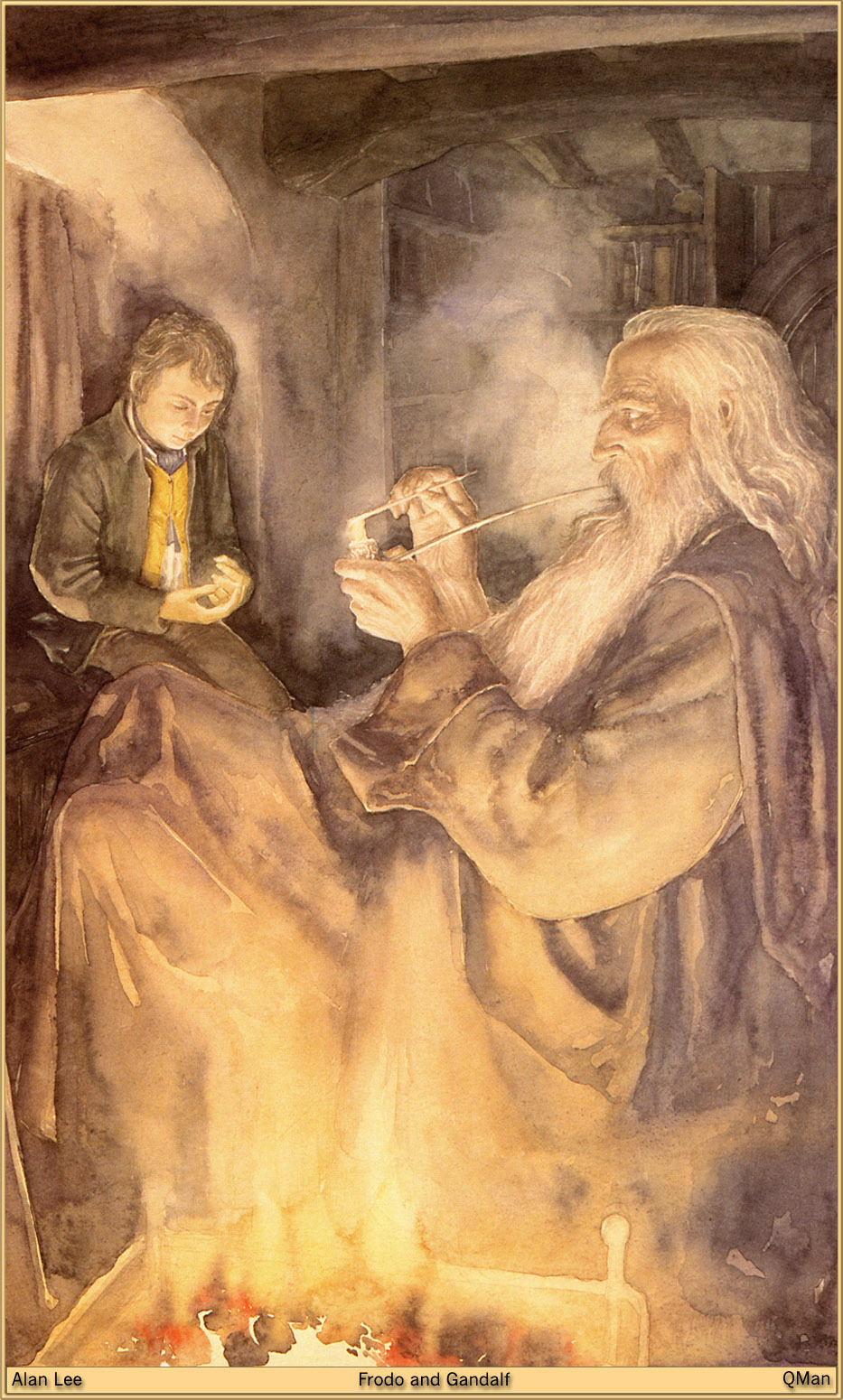 Lord Of The Rings Tarot The Hermit By Sceithailm On: Lord Of The Rings: The Fellowship Of The Ring