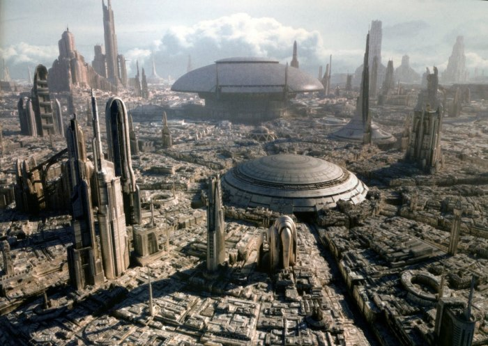 Urban sprawl on Coruscant