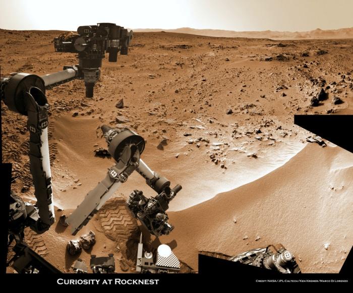 Curiosity-Rocknest