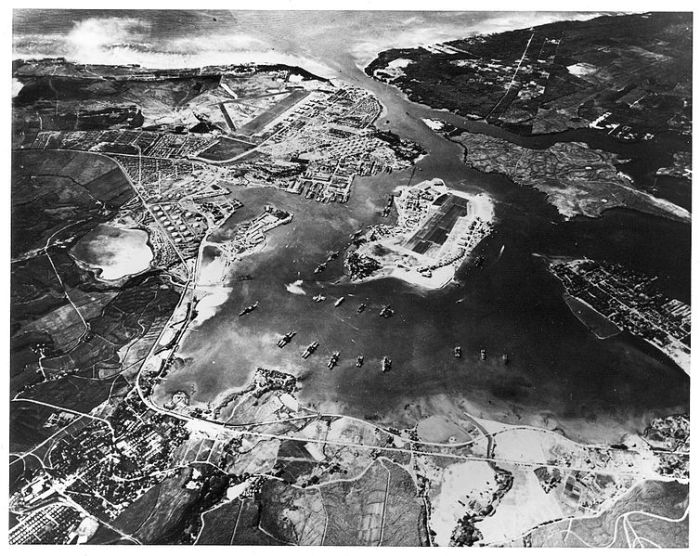 Aerial photo of Pearl Harbor, Oct. 1941