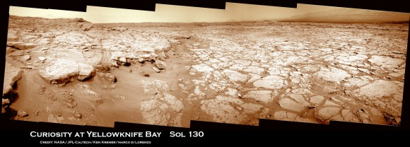 Curiosity-at-Yellowknife-Bay-Sol-130_3a_Ken-Kremer-580x208