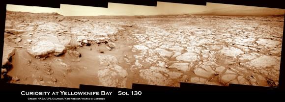 Curiosity-at-Yellowknife-Bay-Sol-130_3a_Ken-Kremer-580x208