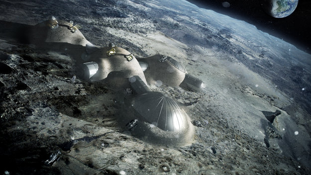 The European Space Agency's concept for a Moon base. Credit: ESA