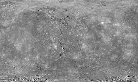 Global Map Of Mercury From Messenger.