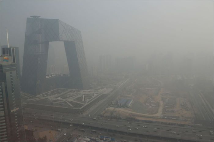 china smog 2013 TV bldg