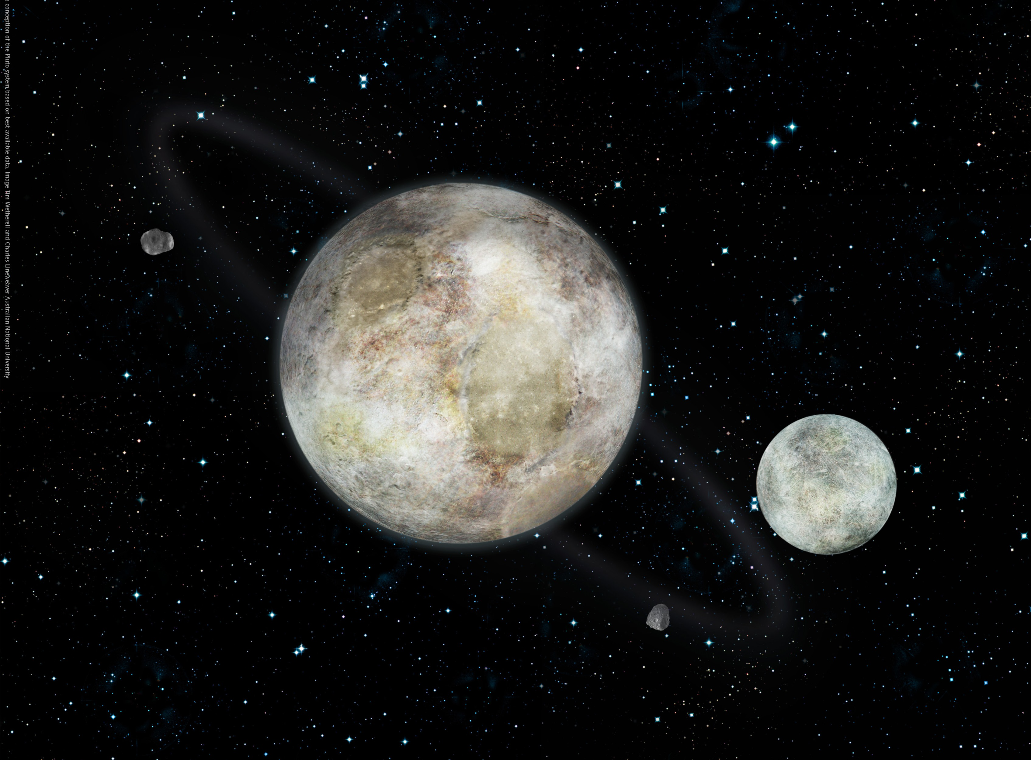 which dwarf planets have moons - HD 3390×2500