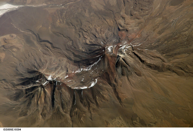 Sanpedropable Volcano as seen from the ISS