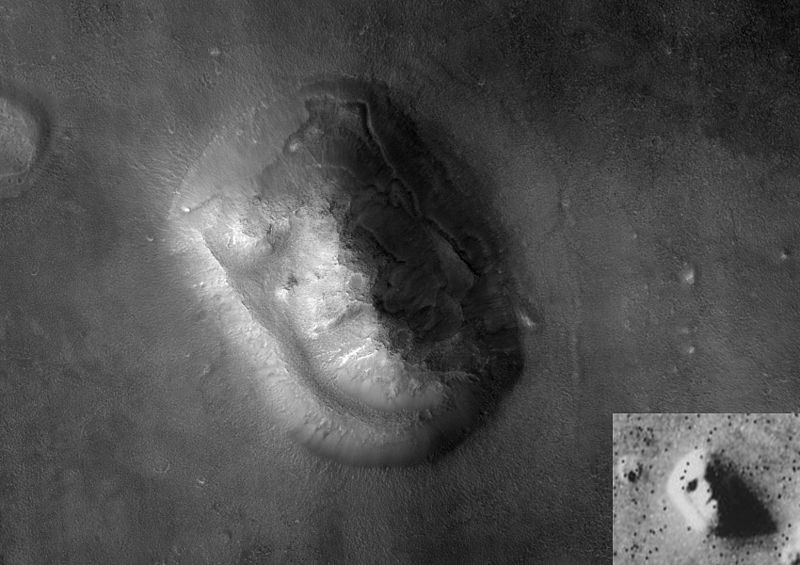 face on mars and moon - photo #10