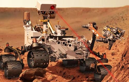 Curiosity-Laser-Beam