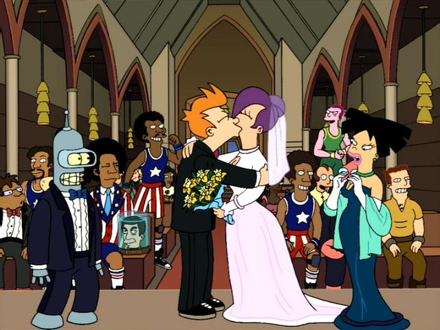 Futurama_FryandLeela'swedding