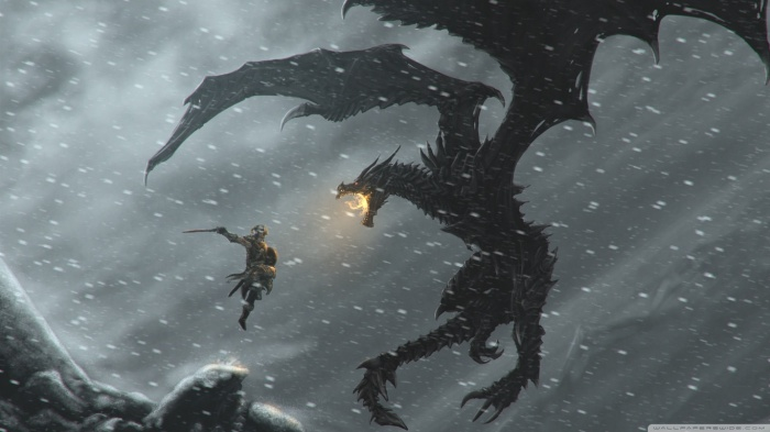 skyrim-dragons