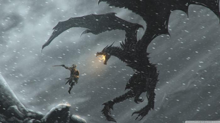 skyrim-dragons