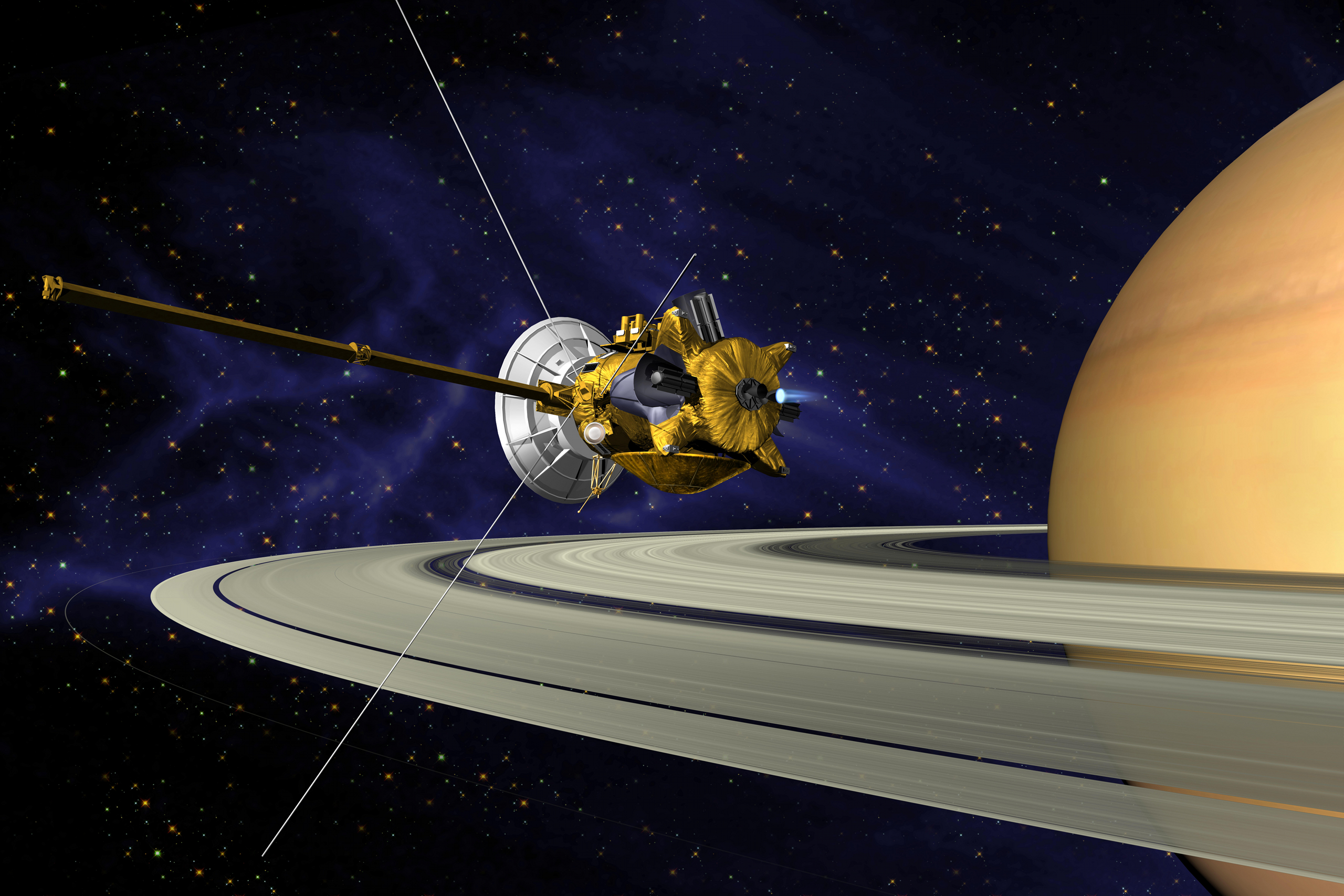 Us First Space Probe : Cassini messenger and mom a space probe odyssey