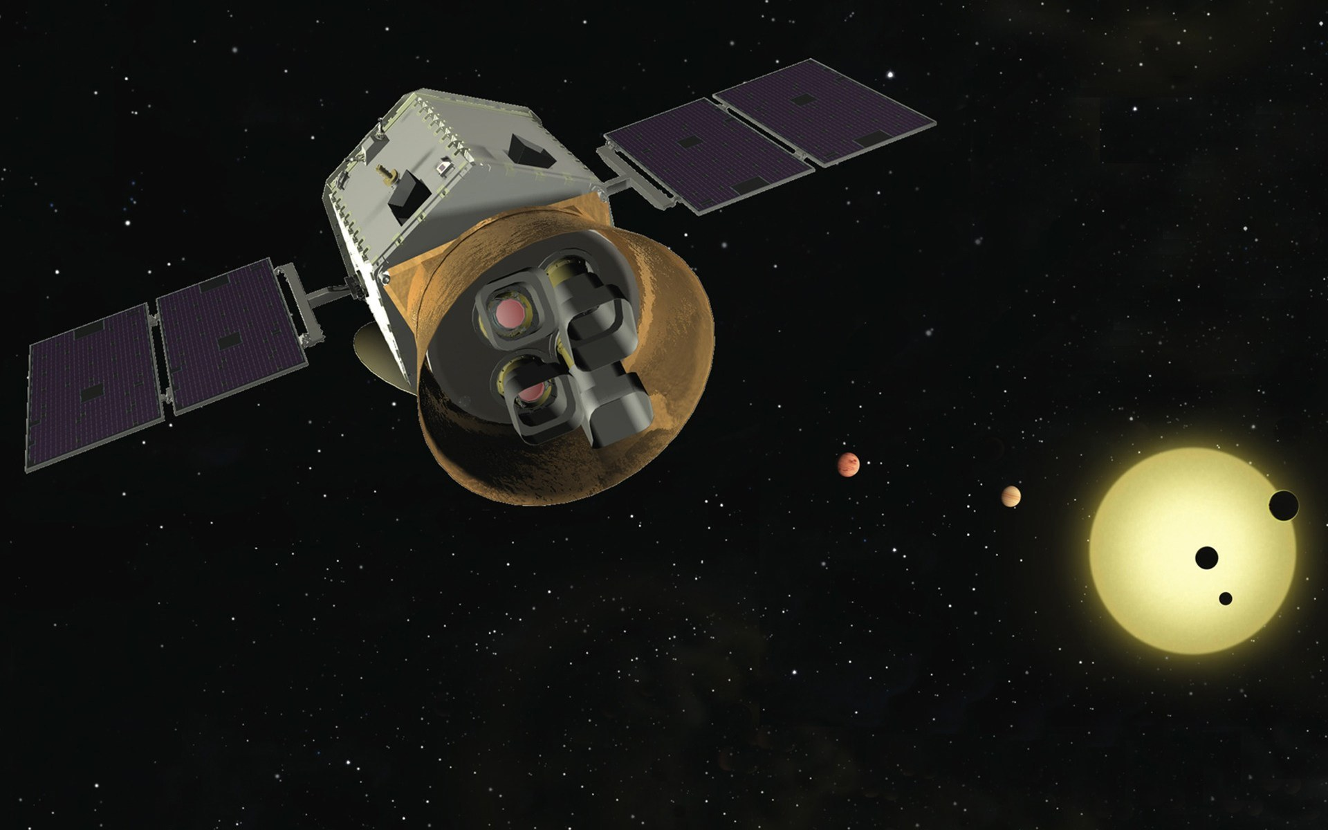 tess telescope From there, astronomers will follow up tess's discoveries using ground-based telescopes as well as other space telescopes such as the future james webb space telescope.
