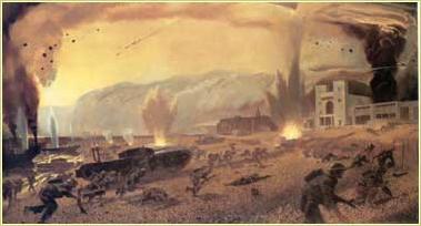Dieppe Raid by Charles Comfort