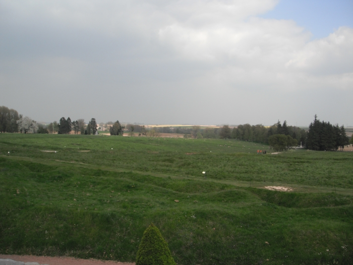 View of the battlefield, with the Danger Tree in the right hand