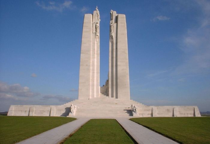 The Vimy Monument, as seen from the west end