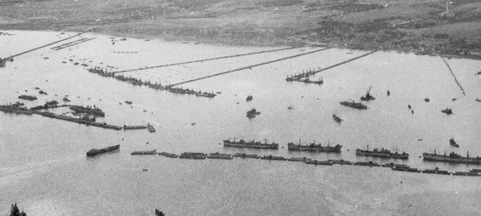Mulberry Harbor in 1944