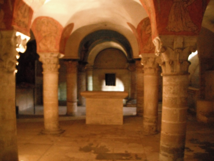 The Bayeux Cathedral crypt