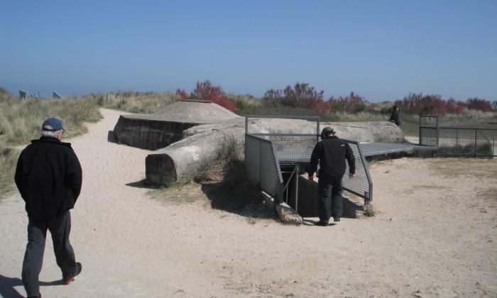 Entering the observation bunker