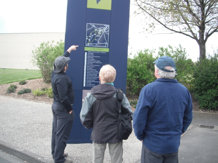 Mémorial de Caen, map out front of all the events around Caen during the Battle of Normandy 1944