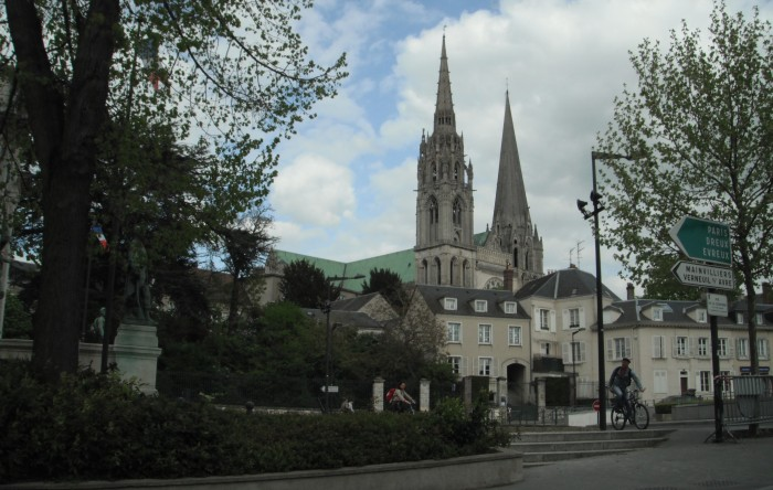 The Cathedral of Chartres in the distance