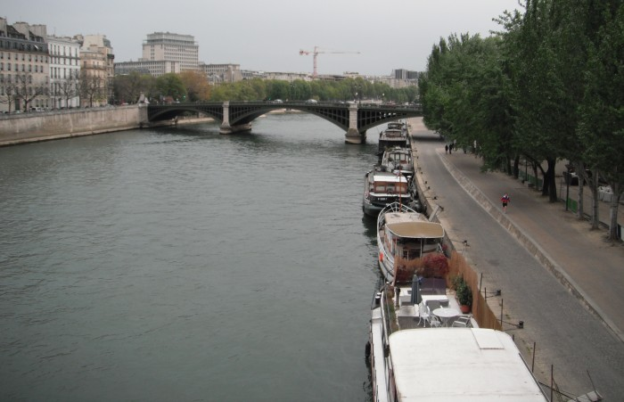 The Seine and the Pont de la Tournelle in the distance