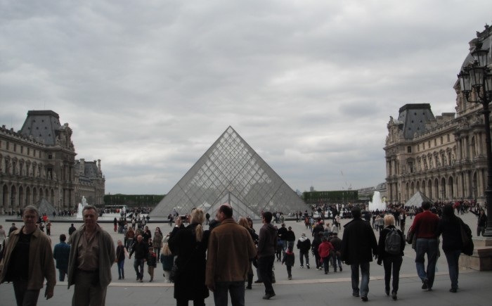 Outside the Louvre
