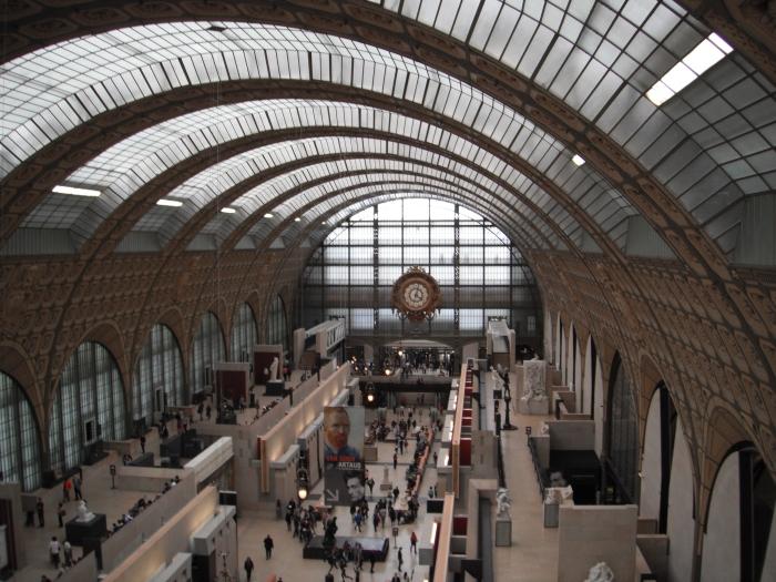 Musee Dorsay, top floor interior