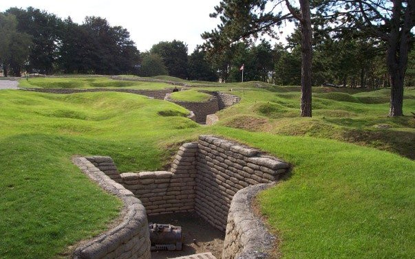 The German trenches