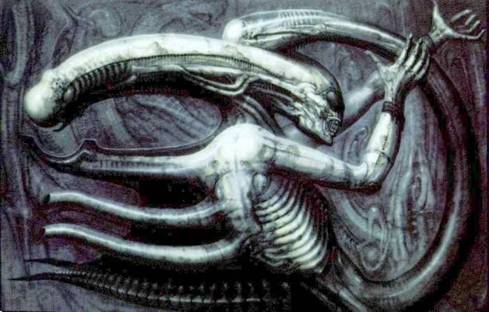 Original alien concept, entitled Necronomicon IV
