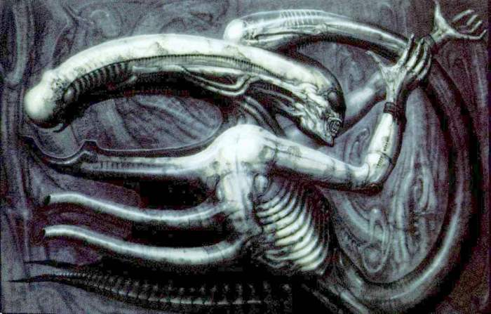Original alien concept, entitled Necronomicon IV
