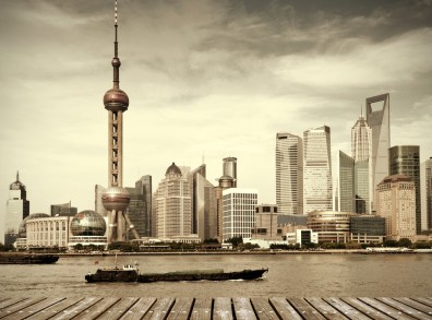 The downtown district of Shanghai. One of many locations in the story.