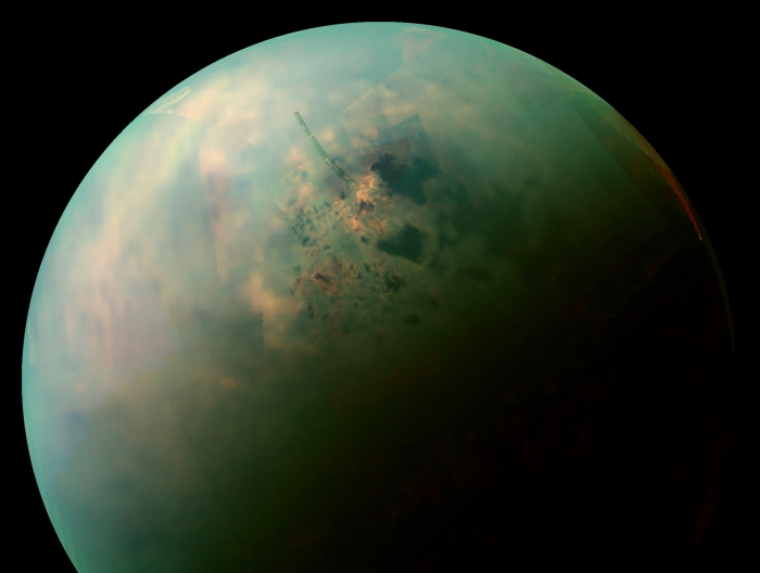 Saturn's moon Titan, which figures prominently in the story. Credit: NASA