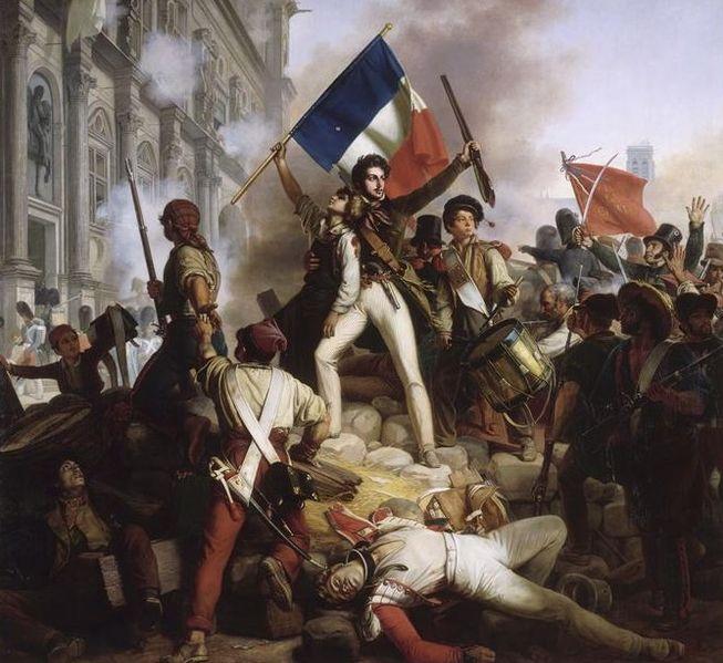 Révolution_de_1830_-_Combat_devant_l'hôtel_de_ville_-_28.07.1830