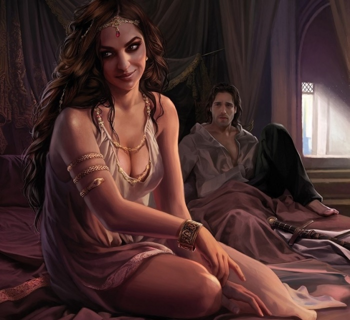 Arianna Martell and Ser Arys Oakheart, by Magali Villeneuve