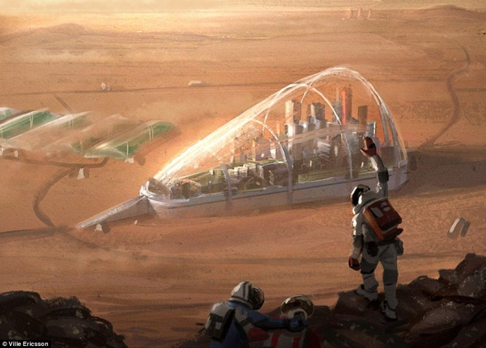 Artist's concept for a possible colony on Mars. Credit: Ville Ericsson